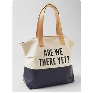 EUC Kate Spade Gap Kids Are We There Yet Navy Tote
